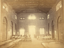Interior view of the Free Church of Scotland Mission School, Nagpur